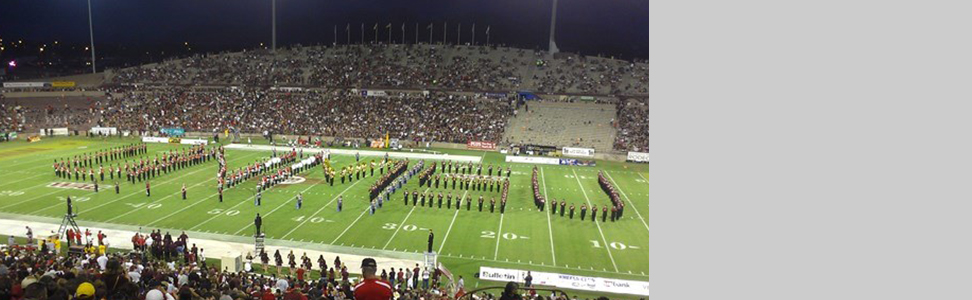 the NMSU stadium wil band on field