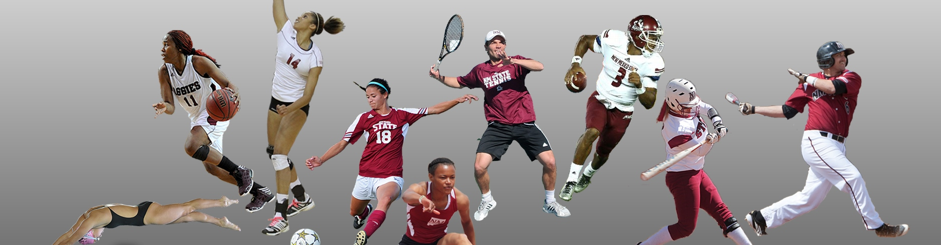Collage of NMSU athletes