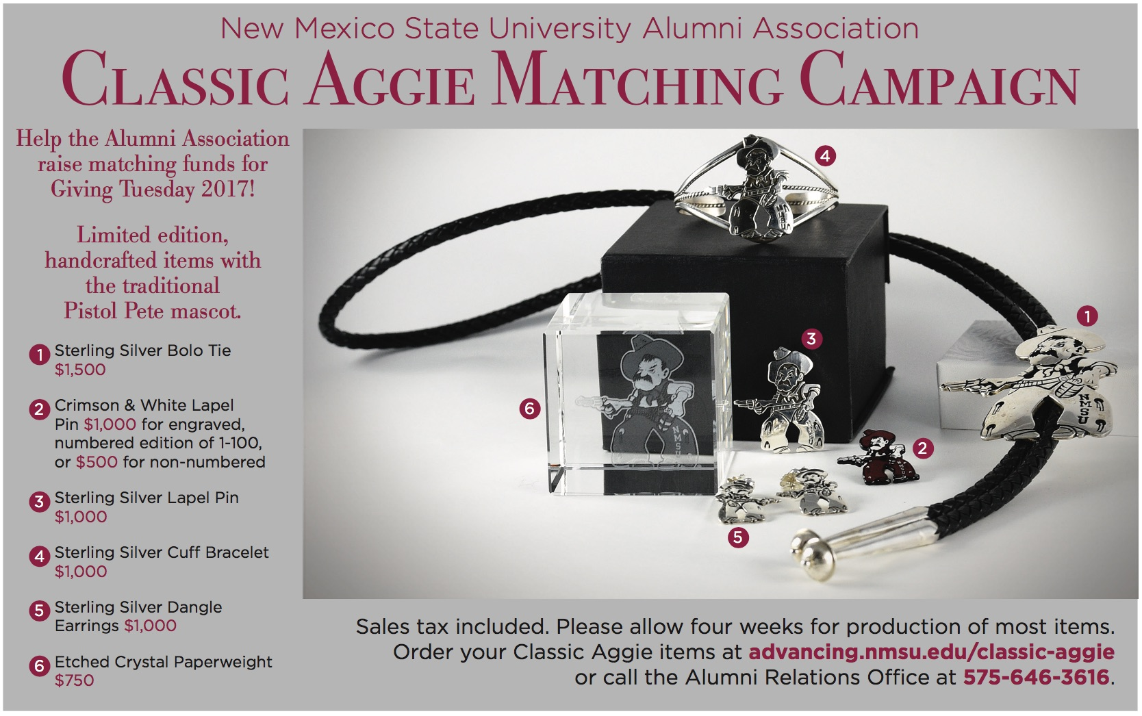 Informational Graphic Showing Classic Aggie Merchandise