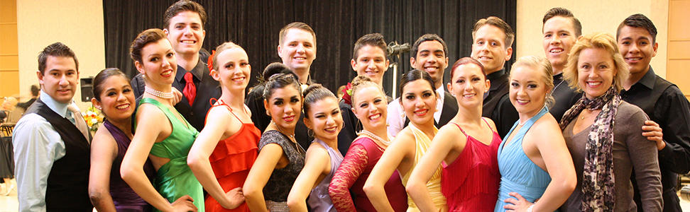 Group of dancers posing for picture